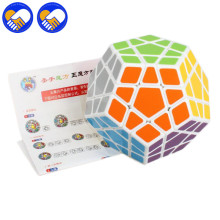 A TOY A DREAM Megaminx PVC Sticker Cube Magic Dodecahedron Blocks Puzzle Magical Cubes Learning&educational Magic Toys For Kids