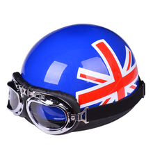 Fashion Bicycle Motorbike Helmet Half Face With Visor Goggles Women Men Protective Motorcycle Helmet Drop Shipping