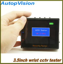 "free shiping Portable Wrist type 3.5"" inch TFT LCD Audio Video Security Tester CCTV Camera Test Monitor"