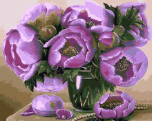 No Frame Picture Painting By Numbers  Wall Art Home Decor for Living Room Painting on Canvas of Purple Flower GX9381 40*50cm