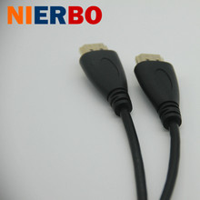 NIERBO Male-male HDMI Cable 4096x2160 24Hz 100 Mb/sec HDMI 1.4 Version 1m 2m 3m 5m Cheap Price Free Shipping Computer Projector