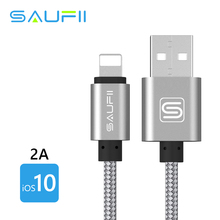 SAUFII USB Charger Cable Fast Charge USB Cable For iphone 6s plus i6 i5 iphone 5 5s ipad air2 Mobile Phone Cables
