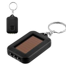 Mini Portable Solar Power LED Light Keychain Keyring Torch Flashlight Useful APE PML