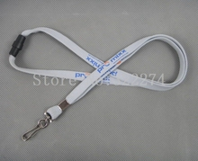 Custom logo ID Card/ Cell Phone Neck Strap Pull buckle lock hook lanyard with removable buckle 10mm*90mm