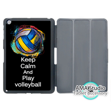 Keep Calm And Play Volleyball Case For Apple iPad Mini 1 2 3 4 Air Pro 9.7 Stand Folio Cover 10.5 12.9 2016 2017 a1822 New(China)