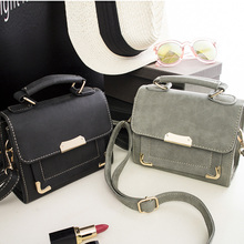 Buy Free shipping, 2017 new fashion handbags, trend messenger bag, simple Korean version women bag, solid color nubuck flap. for $13.75 in AliExpress store