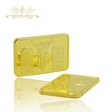 Promotional Products For Gold Bullion Bar Cross Jesus Christ On The Cross OZ 24k Gold Plated Bar Angel