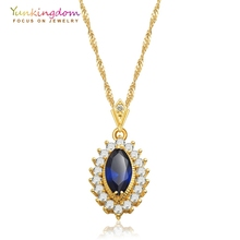Yunkingdom Long Chain Necklace Fashion Jewelry 2017 Popular Colour Pendant Necklaces for Women(China)