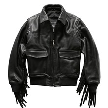 air force flight suit G1 pilot warm leather jacket genuine cow leather clothing thick cowhide rider jacket(China)