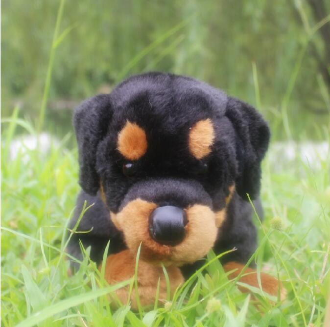 Simulation Stuffed  Animals Big Toy  Rottweiler Doll  Plush Dogs Kids Toys Pillow Gift  <br>