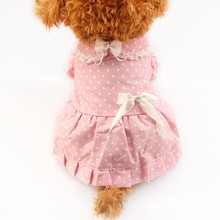 Armi store Pink White Dot Pattern Dog Dresses Dogs Princess Skirt 6071041 Pet Puppy Clothing Supplies