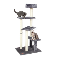 Domestic Delivery Cat Toy Scratching Wood Climbing Tree Cat Jumping Toy with Ladder Climbing Frame Cat Furniture Scratching Post(China)