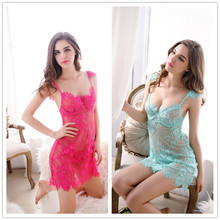 Buy 2018 Women Sexy Lingerie Hot Perspective Backless Sling Lace Lingerie Sexy Hot Erotic Babydoll Chemise Sexy Underwear Sleepwear