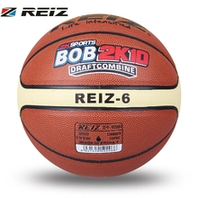 REIZ Basketball Size 6# Durable Sport Non-Slip Indoor Outdoor Training Equipment Match Basketball Ball For Kids Adult Play(China)