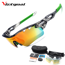Buy VICTGOAL Polarized Cycling Glasses Unisex TR90 Bicycle Sunglasses Outdoor Sport MTB Fishing Running Cycling Bike Eyewear 5 Lens for $14.94 in AliExpress store
