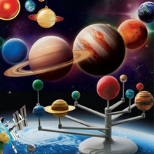 Simulation Solar System Planetarium Painting Model Kit Astronomy Science Project DIY Kids Children's Educational Teaching Toys(China)