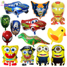 HEY FUNNY 1 pc Avengers foil Balloons Super Hero Baby Toy Children Gift Birthday/Party/Wedding Decor Cartoon Car Foil Balloons
