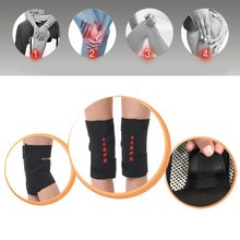 2 Pcs tourmaline health care magnetic therapy self-heating knee pads knee support protection