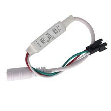 Universal LED Controller For Test WS2812B WS2811 WS2812 Pixel LED Strip Light 3 Key Mini Controller DC 5V-24V 12V
