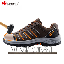 Buy Modyf Men steel toe cap work safety shoes reflective casual breathable outdoor boots puncture proof protection footwear for $47.22 in AliExpress store