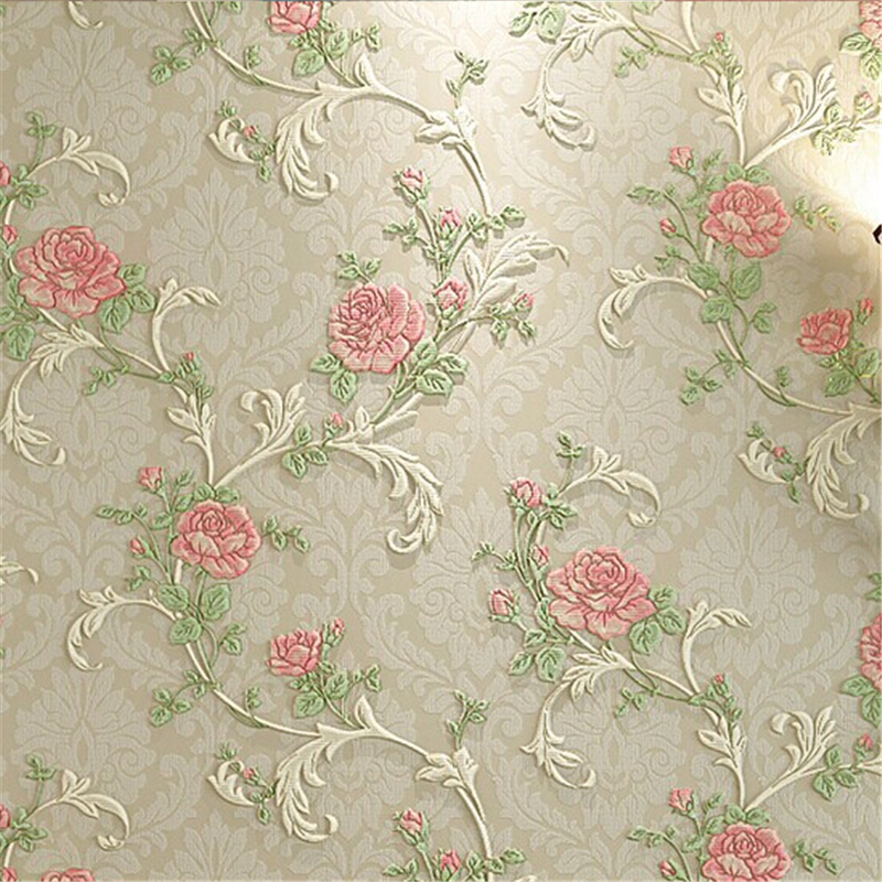 beibehang High Quality 3D solid pastoral flowers wallpaper roll for living room girls bedroom TV/sofa background wall <br>