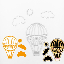 Hot air balloon metal die cutting dies scrapbooking embossing folder suit for sizzix fustella big shot cutting machine