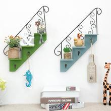 Creative home wall Decoration shelf Trapezoidal flower stand Hanging wall storage shelves wall Decor accessories holder rack 3
