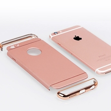 2017 Luxury Shock proof Armor Cover Removable 3 in 1 Combo Hard Plastic Case For Iphone 6 6s 6splus 5 5S SE Case Rose Gold Case