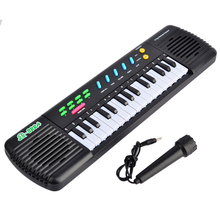 31 Key Electronic Keyboard Piano with Microphone Musical Toy for Children MQ322A - Black