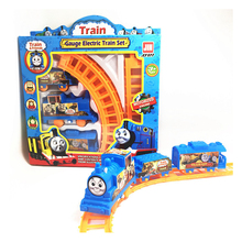 Kids Track car Small train Child toy Car electric car Child Build Kid family fun(China)