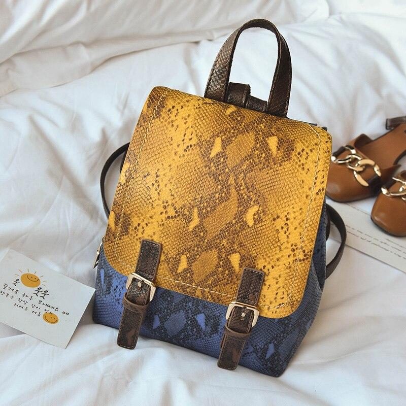 Lyudmyla Brand Designer Women Backpack High Quality School Bag 2017 Snake PU Leather Female Back pack Ladies Bagpack Serpentine<br>