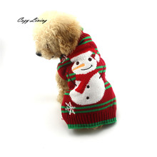 Christmas Pet Dog Christmas Snowman Clothes Puppy Winter Sweater XS-XL Dogs Clothes Coat For Small Medium Large Dogs D26