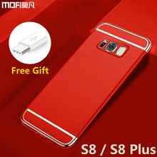 for Samsung S8 case bumper Galaxy s8 case cover back luxury mofi thin hard 3 in 1 protective coque for samsung galaxy s8 s8 plus