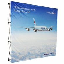 Aluminum pop up stand, pop up banner display,225x225cm(3x3),Fabric Backdrop Banner wall Graphic Printing(China)