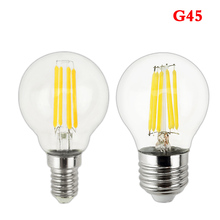 LED bulb E27 LED G45 AC 220v 240v E14 Vintage Warm White 12w 18w Edison lamp Filament Decor Lamp Led Specialty Decorative Light(China)