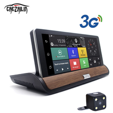 "7"" 3G Car Camera DVR Rear view Android 5.0 GPS   Bluetooth FM WIFI Dual Lens rearview mirror Camcorder Dash cam dvrs"