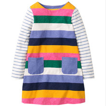 Girls baby dresses long sleeve children clothing Brand Autumn Baby Girls Dress Tunic knitted casual frocks Kids Clothes 2-7T