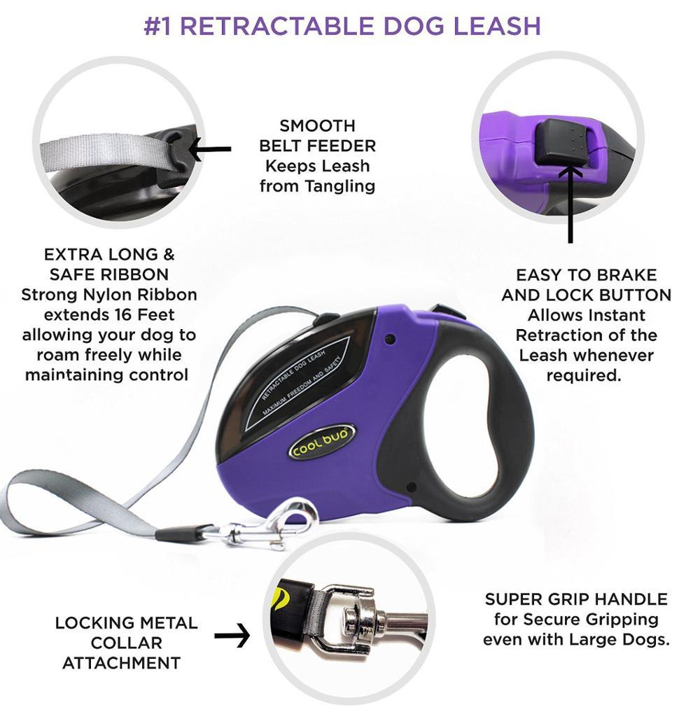 Retractable trainning dog leash