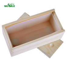 Small Size Rectangle Silicone Soap Mold with Wooden Box Handmade Tost Loaf Mould