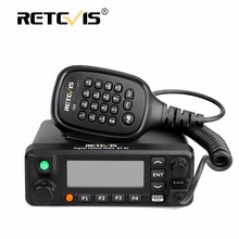 Retevis RT90 Mobile Car Walkie Talkie VHF UHF Dual Band DMR (GPS) 50W VOX Digital/Analog Two Modes Radio Station+Program Cable(China)
