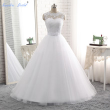 Buy Sapphire Bridal Vestido De Noiva Vintage Line Lace Appliques Wedding Dress Floor Length Lace Bridal Gowns Hot Sale for $109.93 in AliExpress store