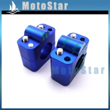 Blue Handle Bar Clamp Riser Taper Mount For Oversize 1 1/8'' 28mm Handlebar Pit Dirt Bike Motorcycle MX Motocross ATV Quad(China)