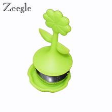 Zeegle Sunflower Shaped Silicone Tea Infuser Oriental Flavor Loose Leaf Herb Strainer Cute Designed Tea Ball Herbal Spice Filter(China)