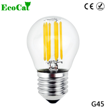 ECO CAT 2017 Filament Light Glass LED Edison  Blub Lamp E27 LED AC220v 240V 2W 4W 6W Edison chandelier Replace Incandescent