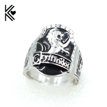 New Product Movie hp Finger Rings Gryffindor School Steampunk Style Enamel Lion Maxi Men Ring Jewelry Free Shipping