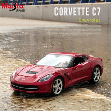Maisto 2014 Chevrolet Corvette Stingray Coupe C7 1:24 Scale Alloy Car Model Diecasts & Toy Vehicles High Quality Collection Gift