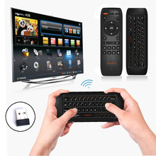 Original VIBOTON Rechargeable Wireless Keyboard Gyro Fly Air Mouse IR Remote Control for PC Computer Projector TV Set HTPC