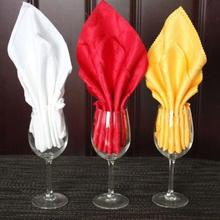9 Colors 1PC Jacquard Weave Mouth Cloth Napkins Wedding Restaurant Polyester Napkins Table Decor(China)