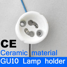VisWorth GU10 Lamp Bases GU10 Lamp Holder With Wire White Ceramic Body Holder For GU10 Spotlight CE