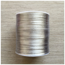 YUMUZ 2mm gray Satin Nylon Cord Knotting cord Jewelery supplies For Necklace Jewelry Crafts 100 Yards